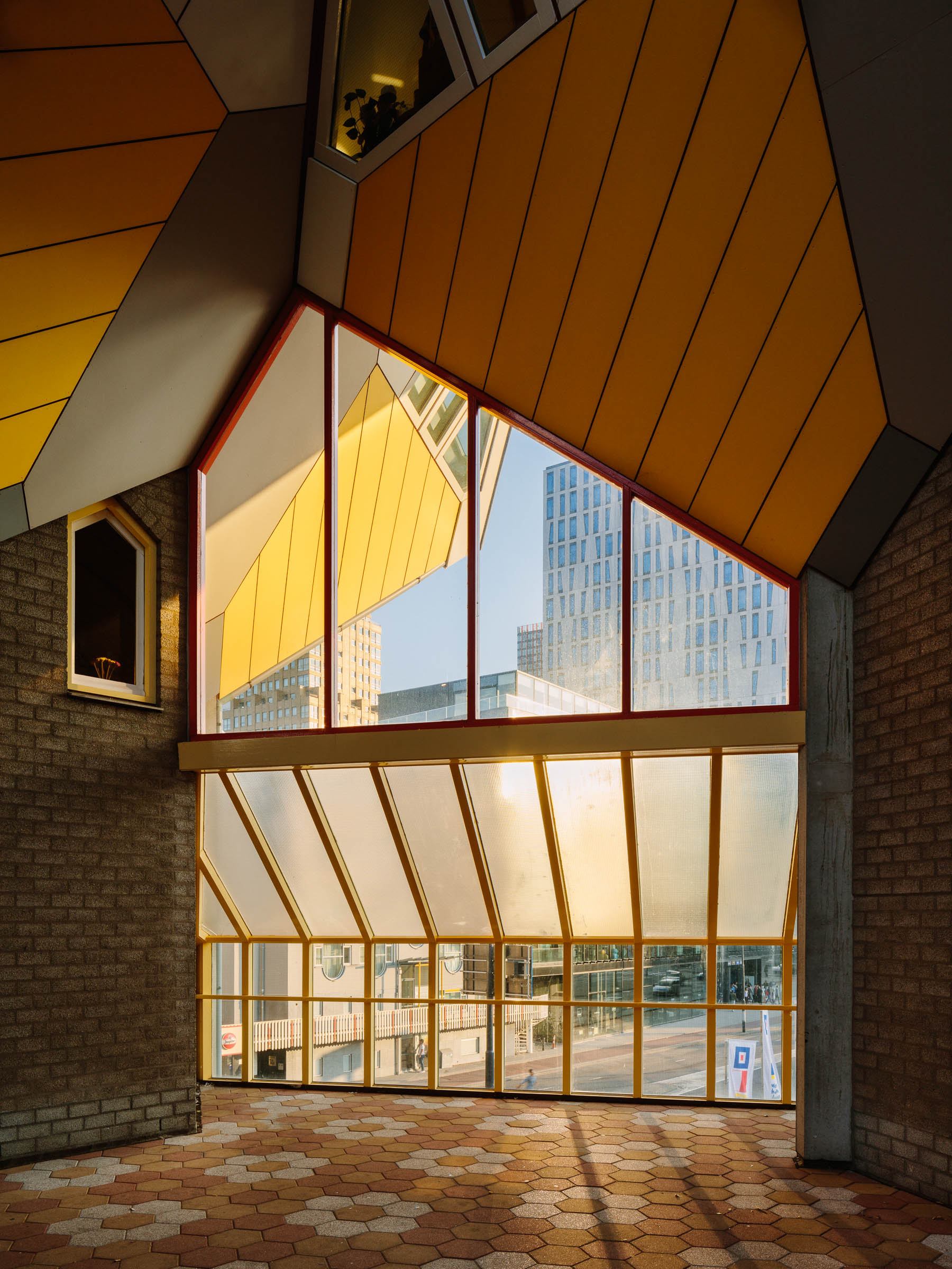 Architectural photography of the project Kubuswoningen in Rotterdam by Piet Blom, photographer Jakob Börner architectural photographer Hamburg