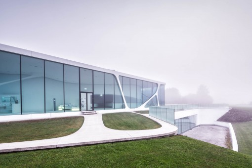 Architectural photography of the project Leonardo Glass Cube in Bad Driburg by 3deluxe, photographer Jakob Börner architectural photographer Hamburg